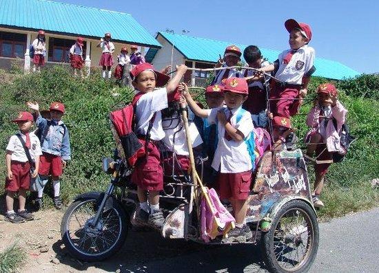 Lake Toba: School transportation on Sumatra Island