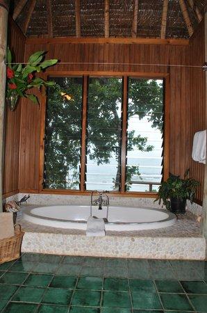 Namale Resort & Spa: The bathtub overlooking the ocean