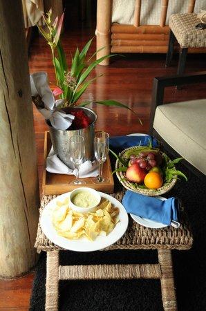 Namale Resort & Spa: In room welcome drinks