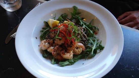 Three Doors Up: Chilli and garlic prawns