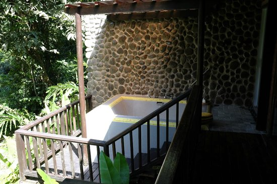 Borneo Rainforest Lodge: private jacuzzi in our chalet