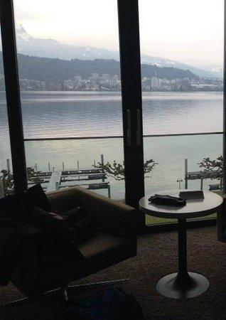Seehotel Hermitage Luzern: Aussicht von Zimmer 423