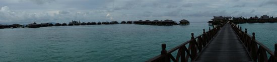 Mabul Water Bungalows: view from the island