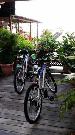 Mabul Water Bungalows: Comes with two bikes