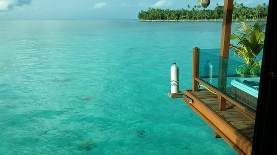 Mabul Water Bungalows: view from the bedroom