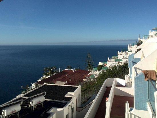 Blue Star Apartments : Flot udsigt fra terrassen.