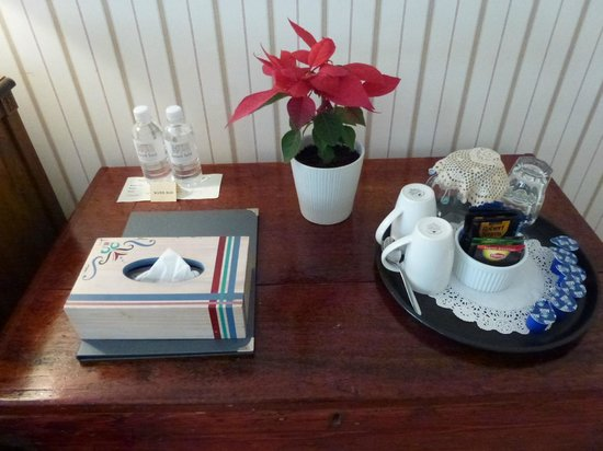 The Russell Hotel: nicely arrange coffeetable with teas coffee