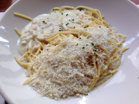 The Old Spaghetti Factory: Lunch combo -- Mizithra & Clam sauce