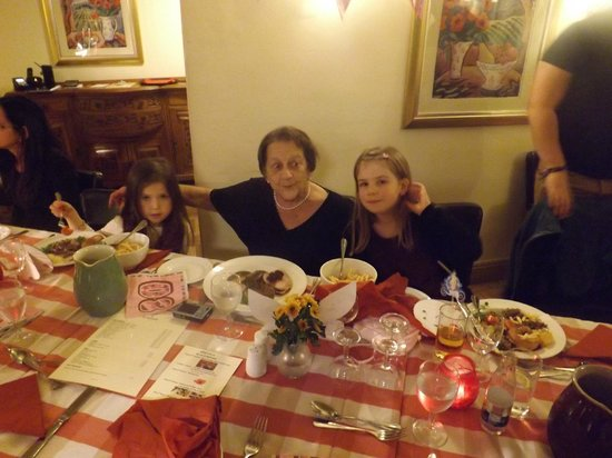 JK's at St. Michaels Restaurant: birthday girl with great grand daughters