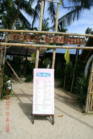 Puka Grande Restaurant: Entrance