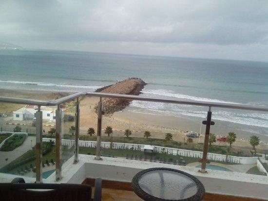 Grand Mogador Sea View - Hotel de luxe : vue de la terrasse