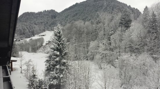 Ferienappartements Wellfit Brunnenhof: Aussicht vom Riesenbalkon