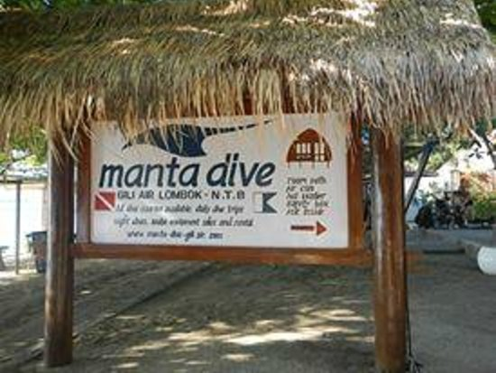 Manta Dive Gili Air Resort : Hotel Entrance