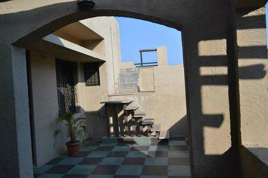 Tathastu: huge terrace with open bedroom
