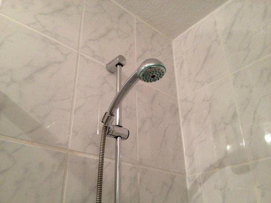 Hotel Haus Rödgen: Einen ordentlichen Duschkopf gibt's auch für kleines Geld, aber für noch kleineres gibt es das.