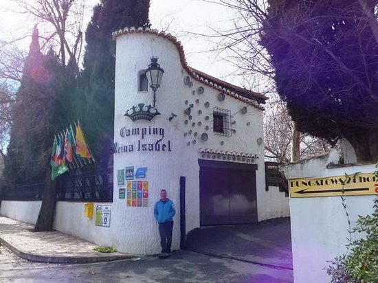 The entrance to Camping Reina Isabel