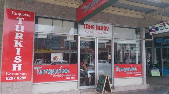 Turquoise Turkish Restaurant Shopfront