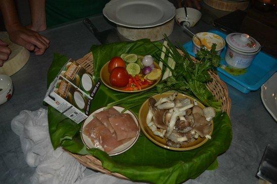 Roi Thai Cooking School: Råvaror