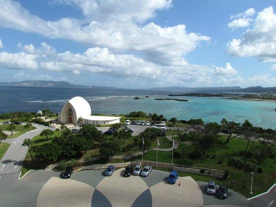 ANA InterContinental Manza Beach Resort: Capela e vista da varanda do quarto