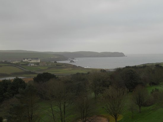 Thurlestone Hotel: It was a little misty but this is the view from our room.