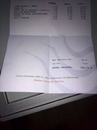 Etxanobe : factura