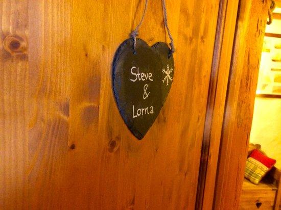 Chalet Alpage: Our room door