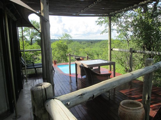 The Elephant Camp : View from the room balcony