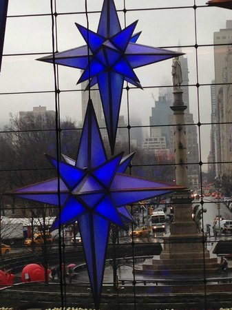 Time Warner Center : blue stars