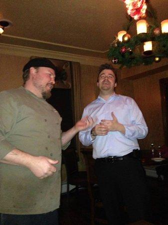 Woodfield Manor, a Sundance Vacations Resort : Lyman and Eric singing Happy Birthday