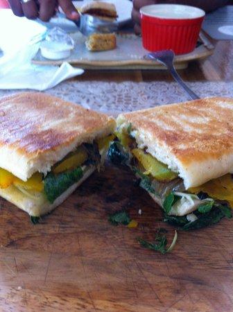 Sister Srey Cafe: Spinach, Pumpkin Sandwich