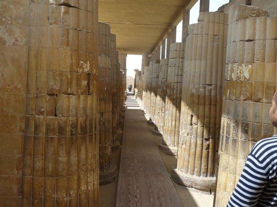 Mastaba of Ti: Polished columns
