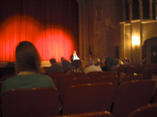 Paramount Theatre: Lecturer telling about movie to be shown