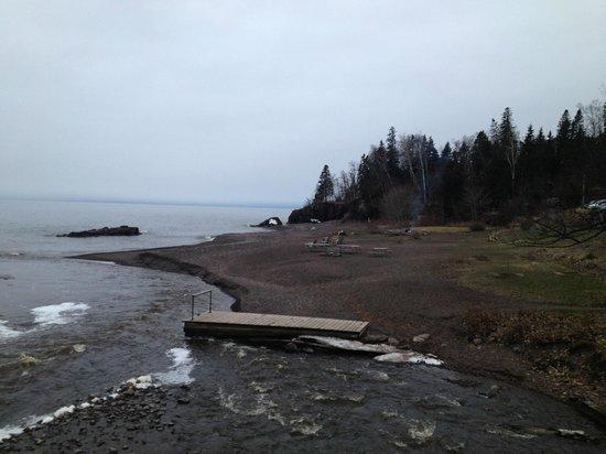 Lutsen Resort on Lake Superior: Lake Superior from Lutsen Resort