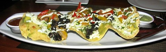 Seasons 52: Black Bean & Roasted Red Pepper Tacos