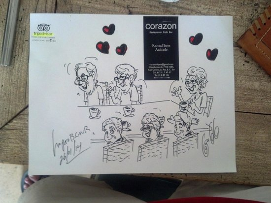 Corazon Cafe: caracture drawn by Antonio