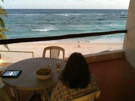 Villas DeRosa Beach Resort: Relaxing on our balcony