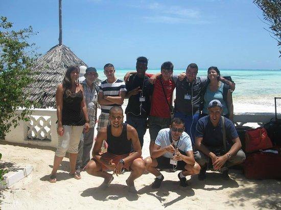 Red Monkey Beach Lodge : une partie du groupe