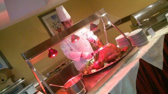 Hotel Relais Des Alpes : dinner roast turkey