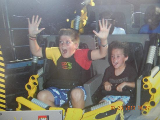 LEGOLAND Florida Resort: my sons on the last ride of the day!!