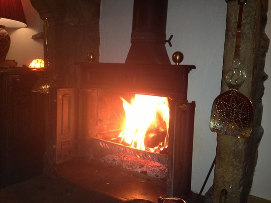 New House Farm: Just one of the cosy fires
