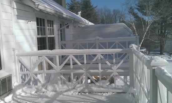 Manoir Hovey: Our balcony