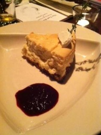 The Turf Room: Goat Cheese Cake