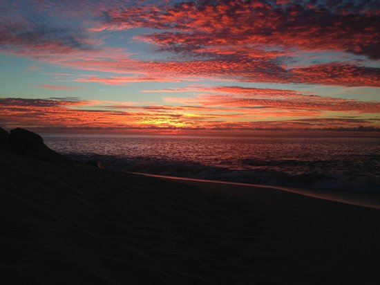 Melia Cabo Real All-Inclusive Beach & Golf Resort : sunrise on the beach
