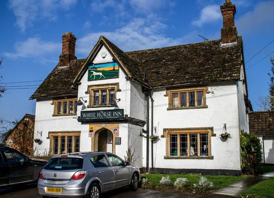 The White Horse Inn: A welcoming sight.