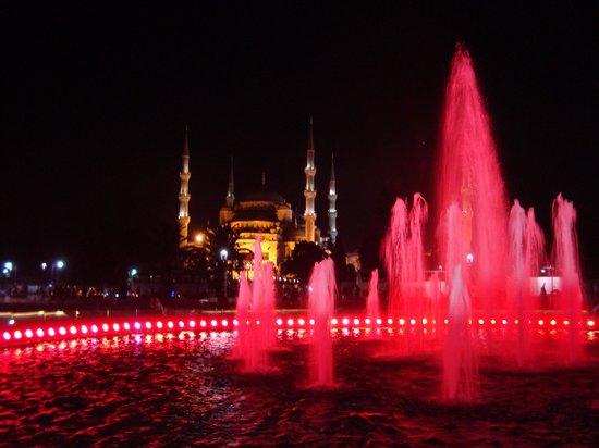 Blue Mosque: Night Walking