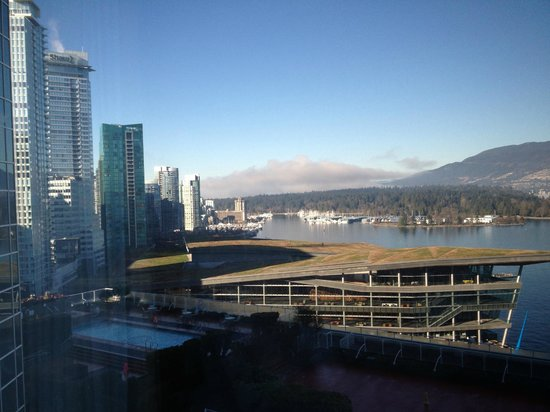 Pan Pacific Vancouver : Looking over convention centre and harbour