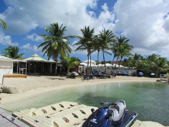 Mercure Saint-Martin Marina & Spa: from dock looking at water sport area beside resort