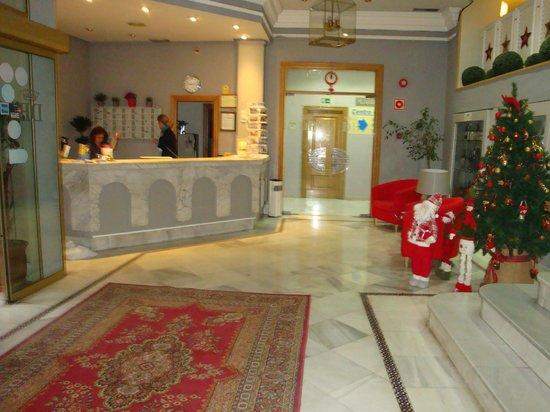 Hotel Dona Blanca: Recepción.