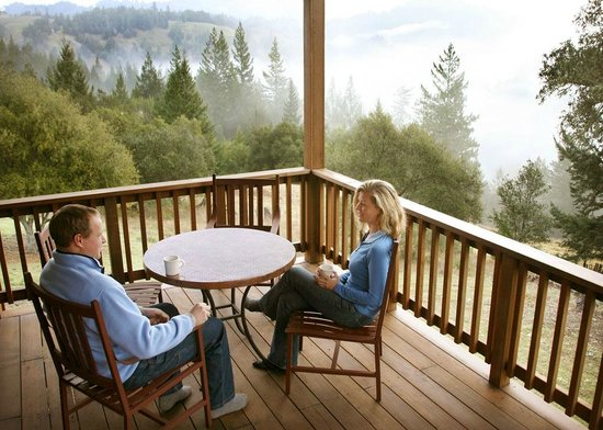 Ratna Ling Retreat Center: Cottage Deck