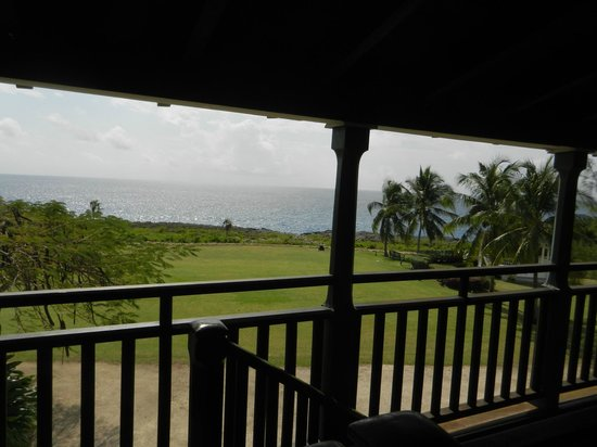 Pedro St. James National Historic Site: view from veranda of this historic site